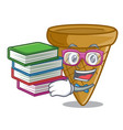 student with book sweet wafer cone isolated on vector image vector image