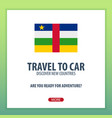 travel to central african republic discover and vector image