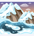 winter landscaping mountains isometric background vector image
