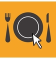 icon of advertisement for restaurants web vector image