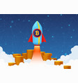 concept of bitcoin growth with vector image
