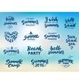 Summer hand drawn brush letterings vector image