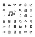 33 note icons vector image vector image