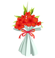 A boquet of red flowers vector image vector image