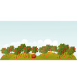 Apple garden vector image vector image