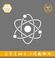 atom symbol - science icon graphic elements for vector image