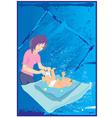 Baby bath vector image vector image