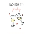 Bachelorette party template bridal shower print vector image