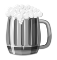Beer mug icon gray monochrome style vector image vector image