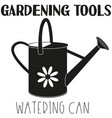 black and white watering can silhouette vector image