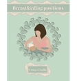 Breastfeed position Cross-Cradle vector image vector image