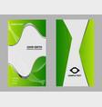 business card set design vector image vector image