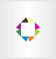 business logo square icon colorful box symbol vector image
