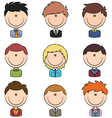 Business male avatar vector image vector image
