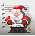 criminal santa claus vector image vector image