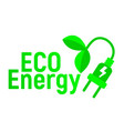 eco energy logo and icon energy label for web on vector image