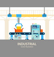 factory or plant automated assembly line vector image