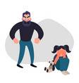 family violence and aggression concept vector image