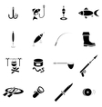 Fishing icon set simple style vector image