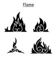 flame fire burn vector image vector image