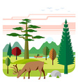 Flat of nature vector image