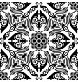 floral ornament silhouette seamless pattern vector image