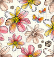 Flower seamless texture watercolor vector image vector image