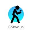 Follow Us sign for social media community vector image