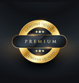 genuine premium quality golden label design vector image vector image