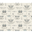Glasses Labeles Sketchy Drawing Seamless Pattern vector image vector image