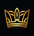 golden crown logo vector image vector image
