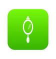 hand mirror icon green vector image