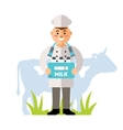 Happy Milkman Flat style colorful Cartoon vector image vector image