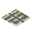 isometric park people urban infrastructure vector image