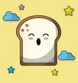 kawaii sliced bread baked image vector image vector image