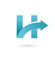 Letter H arrow logo icon design template elements vector image vector image