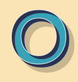 letter o retro text style fonts concept vector image vector image
