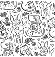 love for mommy animal seamless pattern vector image