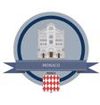 Monaco vector image vector image