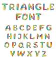 mosaic triangular alphabet vector image