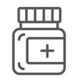 ointment line icon care and medicine medical vector image vector image