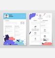 personal cv- set of modern template vector image