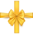 Realistic gold bow isolated on white background vector image vector image
