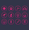 science research icons set vector image vector image