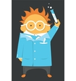 Scientist or teacher vector image