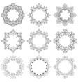 set decorative vintage frames and borders vector image vector image