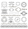 Set of graphic elements for design vector image