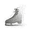 single ice skate shoe made of particles vector image
