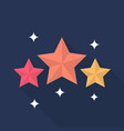 star icon set of great flat icons with style vector image