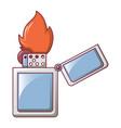 steel lighter icon cartoon style vector image